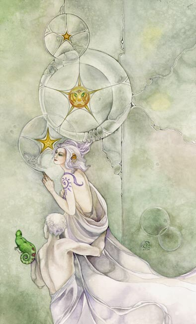 Three of Pentacles- Shadowscapes Tarot