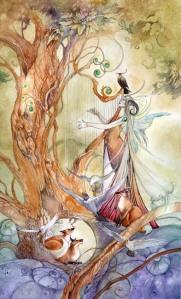 Queen of Wands - Shadowscapes Tarot