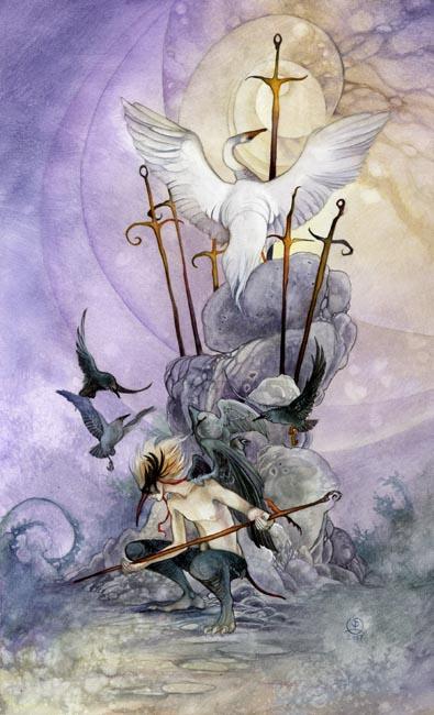 Seven of Swords - Shadowscapes Tarot