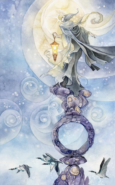 The Hermit - Shadowscapes Tarot