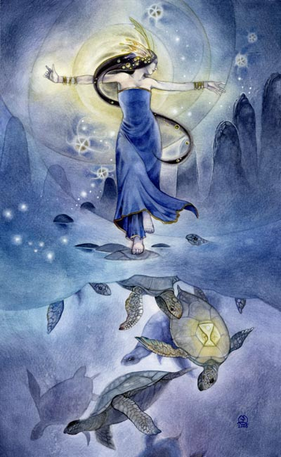 Queen of Cups - Shadowscapes Tarot