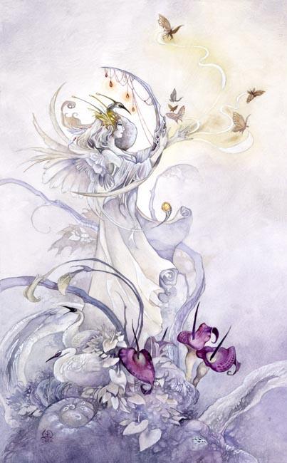 Queen of Swords - Shadowscapes Tarot