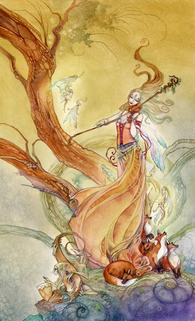 Page of Wands - Shadowscapes Tarot