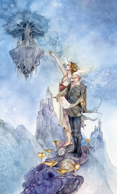 Seven of Cups - Shadowscapes Tarot