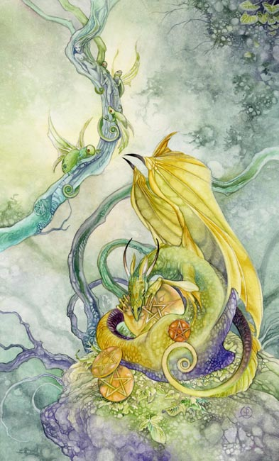 Four of Pentacles - Shadowscapes Tarot